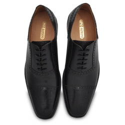 Black Dress Shoe, Brogue Detailing, Argentinian Leather Sole