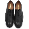 Black Wingtip Brogue Dress Shoe,Hand Crafted Argentinian Leather Sole