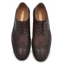 Brown Wingtip Leather Brogue Dress Shoe, Argentinian Leather Sole
