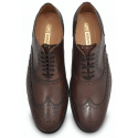 Brown Wingtip Brogue Shoe, Argentinian Leather + Rubber Combo Sole