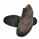 Gino Romano Brogue Shoes for Men - Full Grain Smooth Calf Leather and 100% Genuine Argentinian Leather + Rubber Combo Sole