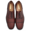 Bordeau Plain Toe Oxfords, Brogue Detail, Grooved Sole for Grip